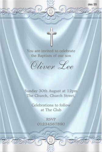 40 Personalised Boy Girl Christening Baptism Dedication Naming Invitations 2017