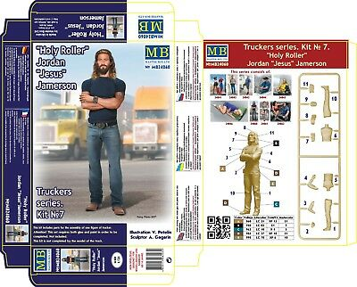 Master Box — Truckers Sandy and George — Plastic model kit 1:24 Scale #24062