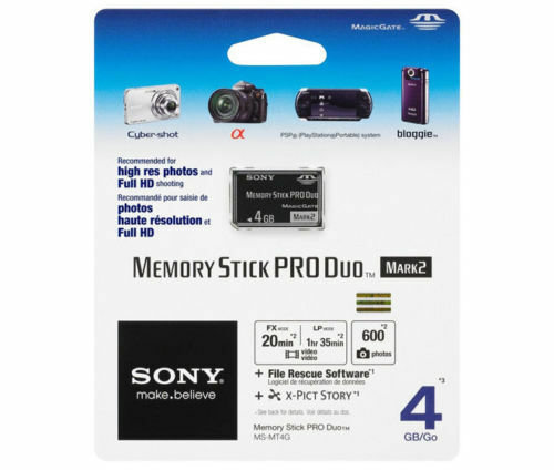 Genuine Sony 4GB 4G Memory Stick Pro Duo MSPD Mark II for PSP Camcorder MS-MT4G