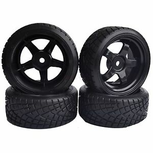 4PCS-RC-1-10-On-Road-Car-Hard-Plastic-Drift-Tyre-Tires-amp-Wheel-Rim-6030-6013