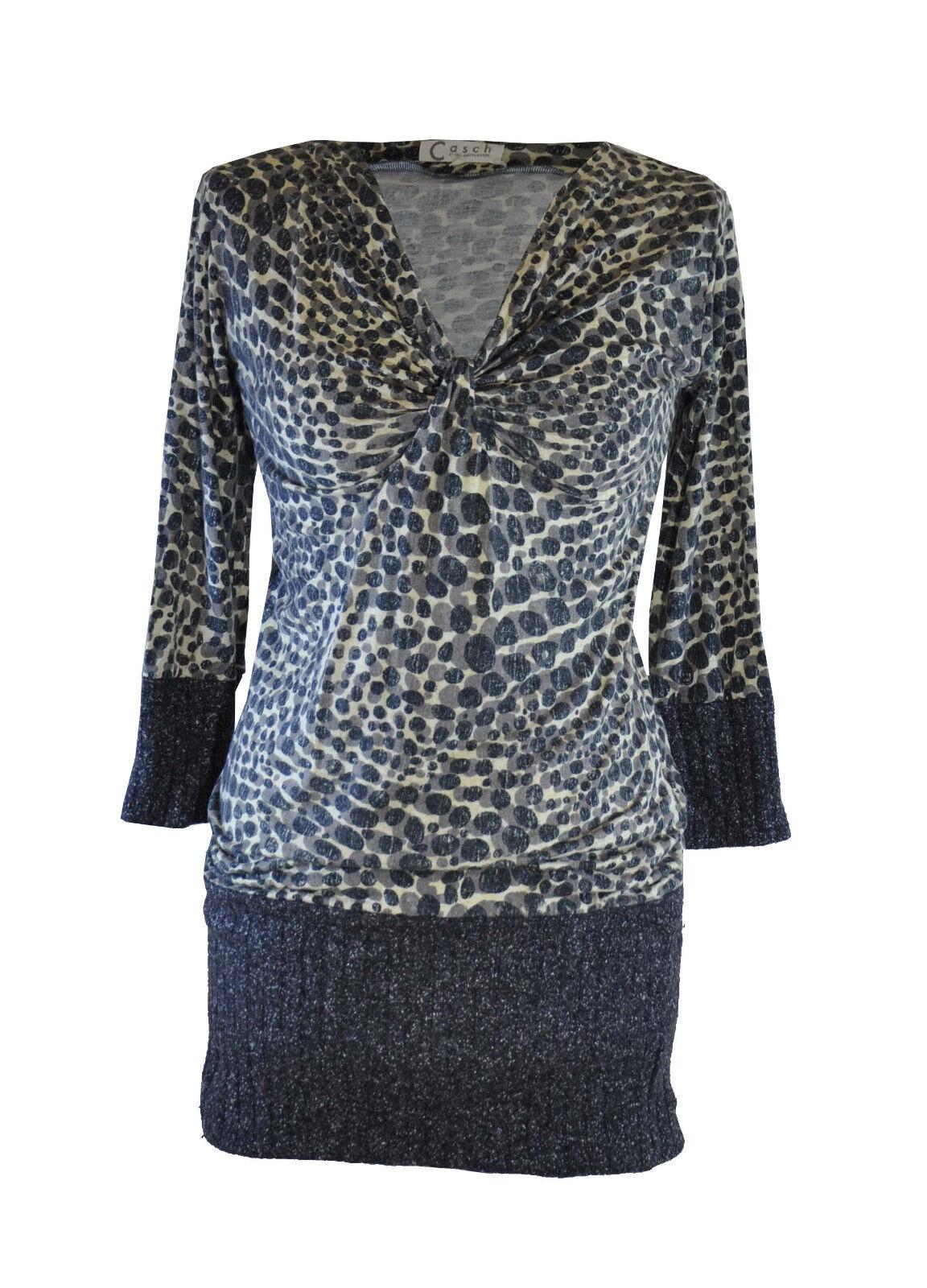 Casch by Gro Abrahamsson  Grey & Beige Long Top   Dress  36