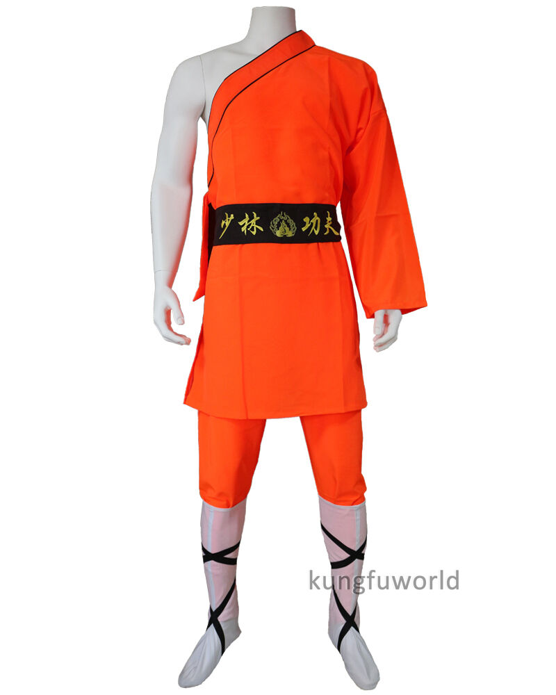 Men's Holloween Costume Shaolin Monk Robe Kung fu Suit Martial arts Uniforms
