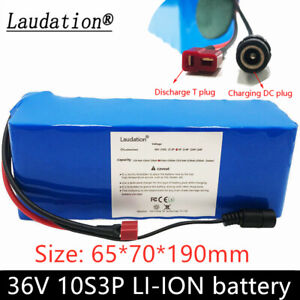 36v 10Ah rechargeable li-ion battery pack for  500W electric bicycle scooter