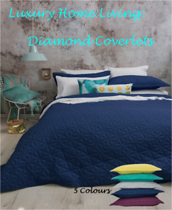 Queen-King-Bed-Coverlet-Set-Bambury-Regent-Diamond-Spread-pillowcase-Quilted