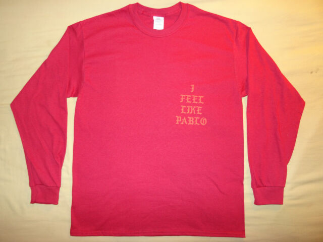 I Feel Like Pablo Red Long Sleeve Gildan T-Shirt tee Yeezus
