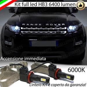 KIT FULL LED LAND ROVER RANGE ROVER EVOQUE LAMPADE LED HB3 6000K NO AVARIA LUCI