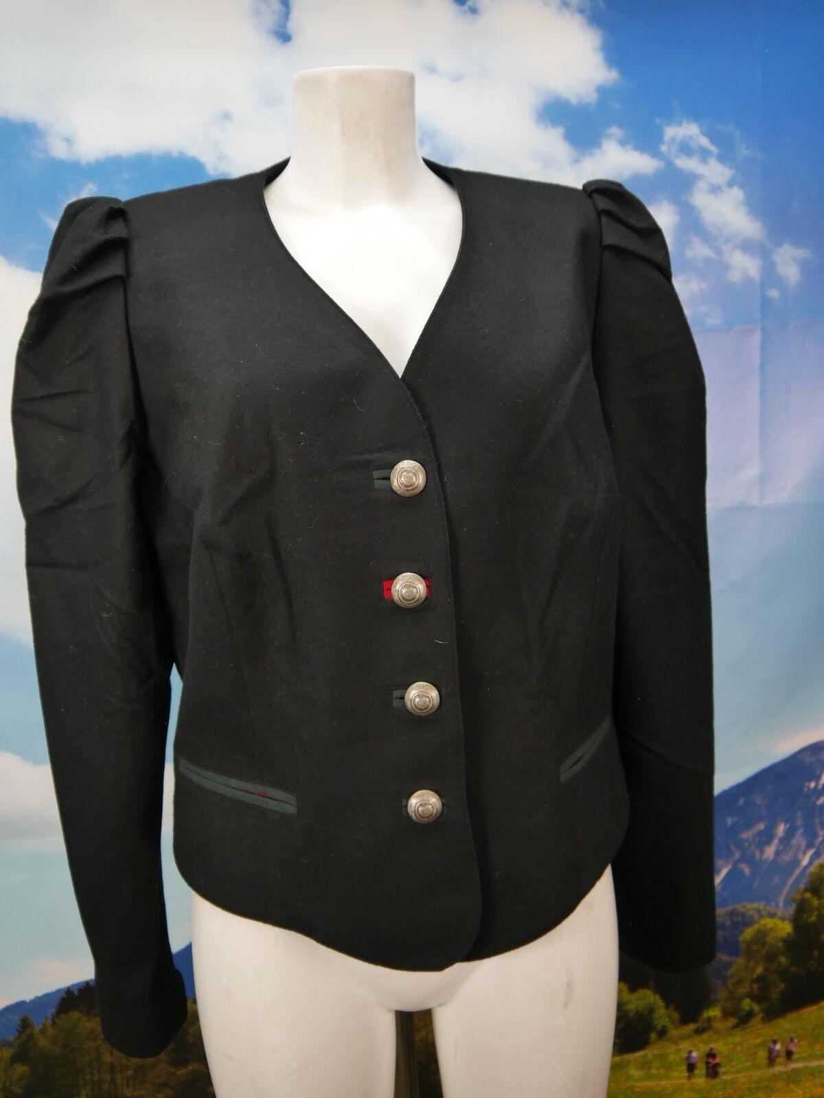 Alphorn schwarz mit Puffärmel Blazer schwarz neuwertig Trachtenjacke Jacke Gr.46