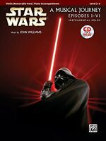 Star Wars Instrumental Solos For Strings (movies I-vi): Violin (book And Cd) (po