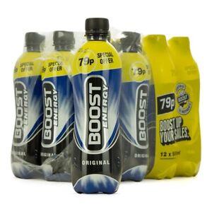 Boost Energy Drink 500ml x 12 cheapest bargain eBay
