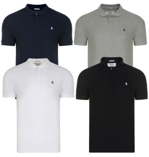 Original Penguin Uomo Casual Cotone Polo T-shirt sollevato Plain in piquet Top