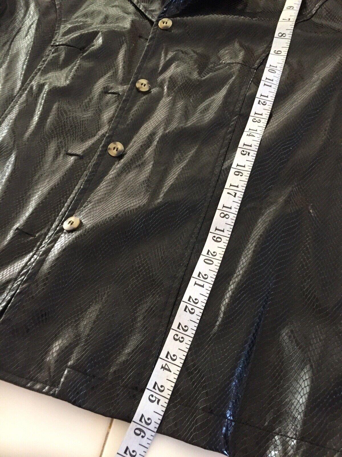 VINTAGE Selene Sport Faux  Snakeskin Jacket Coat … - image 7