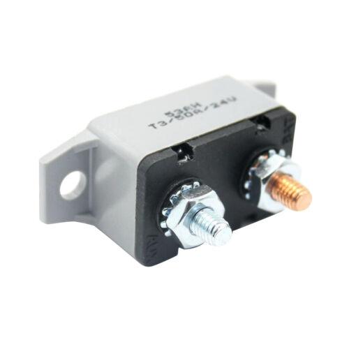 12V-24VDC 50Amp Inline Circuit Breaker Fuse for Car Marine Boat Stereo Audio