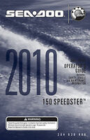 Sea-doo 150 Speedster 2010 Owners Manual Paperback Free Shipping