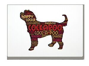 Cockapoo-Art-Print-Word-Art-A4-A3-Cockerpoo-Mothers-Day-Gift-Personalised-Option