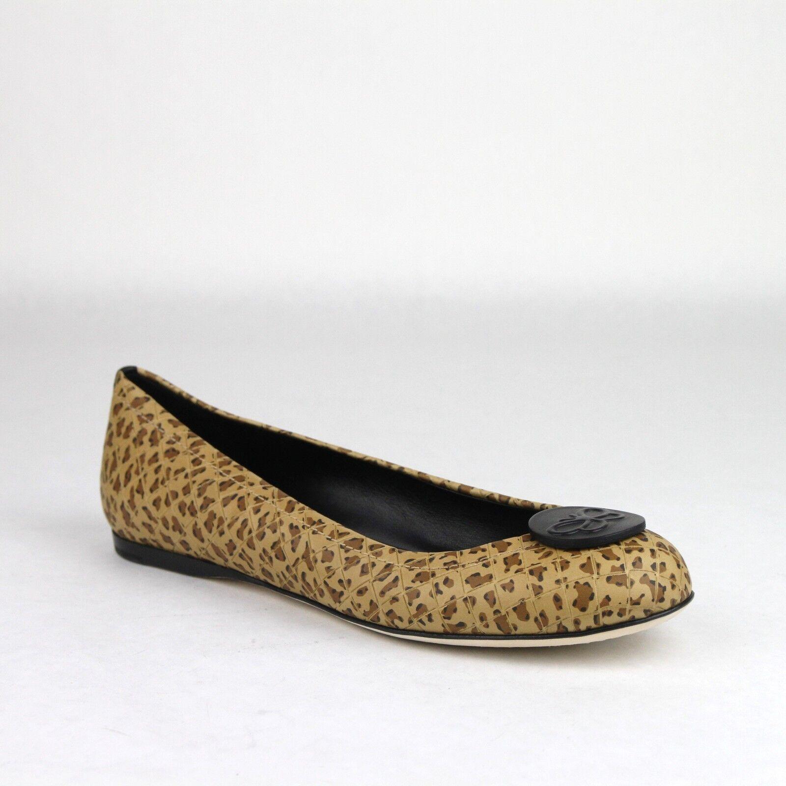 $610 Bottega Veneta Women's Cheetah Print Print Cheetah Leather Ballerina Flats 38 338265 8465 5ac1e9