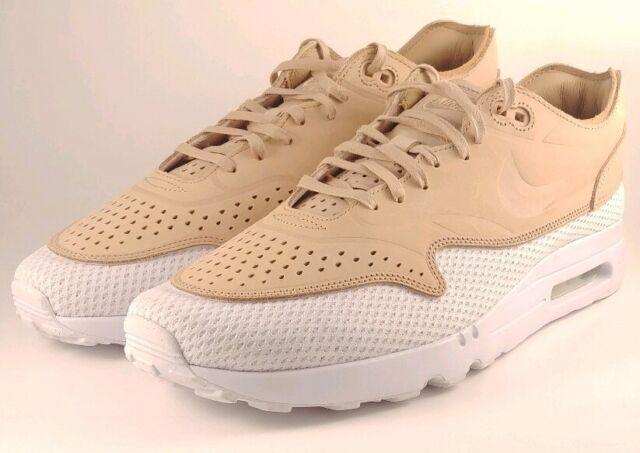 Nike Air Max 1 Ultra 2.0 Size 12 Premium BR Vachetta Mens TanWhite AO2449 200