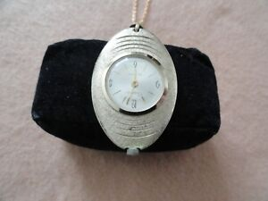 Swiss Made Vintage Mechanical Wind Up Capri by Mepa Necklace Pendant Watch