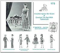 173 Knit & Crochet Doll Wardrobe Pattern & Tea Set Made For Vintage Barbie