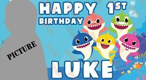 Shark Shark Banner Shark Birthday Banner PRINTED