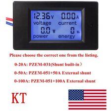 Dc 65100v 20 50 100a Lcd Digital Combo Panel Display Volt Amp Power Watt Meter