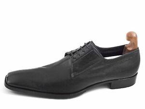 Fabi Derby Oxfords Black Leather Mens