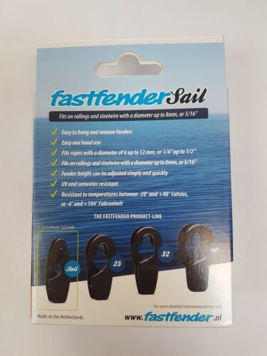 Fastfender Sail Grey Fender Clip 8mm Wires Fast Fender Removable White FFSGY