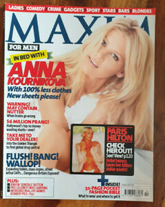 Maxim Mag Oct 2003 - Anna Kournikova, Paris Hilton, Sophia Raafat, Tim Burgess
