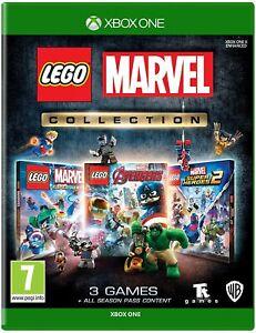 Lego Marvel Collection paquete triple Los Vengadores & Super Heroes 1+2 XBox One Juego