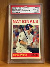 2013 Topps Heritage BRYCE HARPER #440 Throwback SSP GEM MINT PSA 10 POP 1