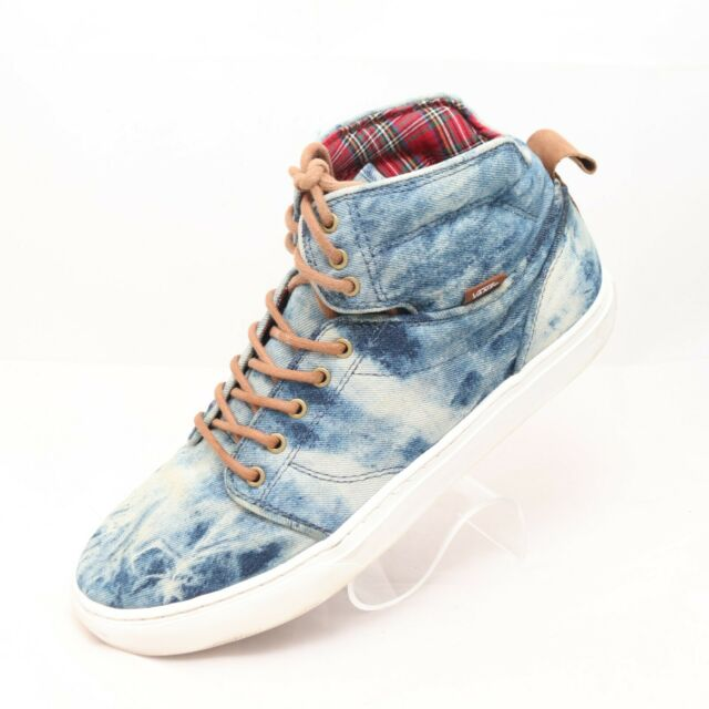 NEW Vans Sk8 Hi Skate Shoe Acid Denim High Top WOMENS | eBay