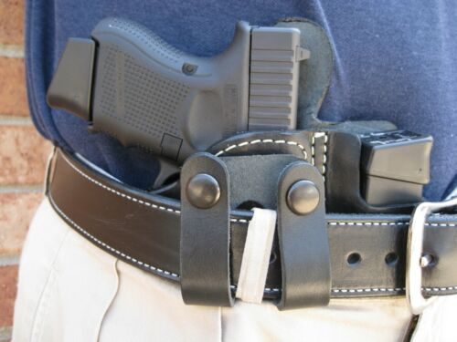 USA Leather Belt Loop IWB Combo Holster 10 Mag Pouch CCW For..Choose Gun