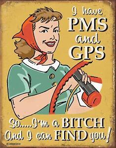 PMS-amp-GPS-Vintage-Retro-Rustic-Tin-Metal-Sign-13-x-16in