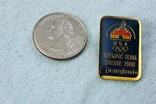 DISNEYLAND LAPEL PIN OLYMPIC TEAM SALUTE 1988