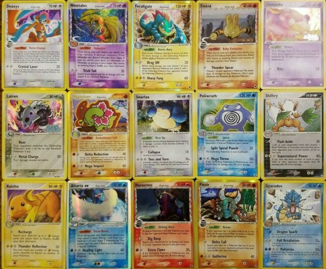 15 vintage Pokemon card lot From Ex Ruby and Sapphire to Ex Power Keepers cards
