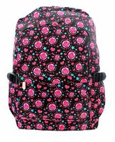 SMILEY FACE RED Pattern Cloth Backpack Rucksack Bag School College Funky Face