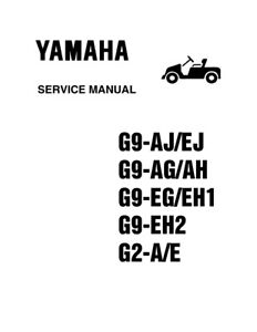 Details about Yamaha Golf Cart G2 G9 Gas & Electric Service Repair on