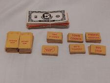Vintage Video Village Game Parts Pieces Money Cards Shops
