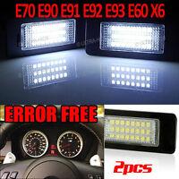 BMW E82 E88 E39 E60 E61 E70 E90 E91 E92 E93 M3 LED License Number Plate lights