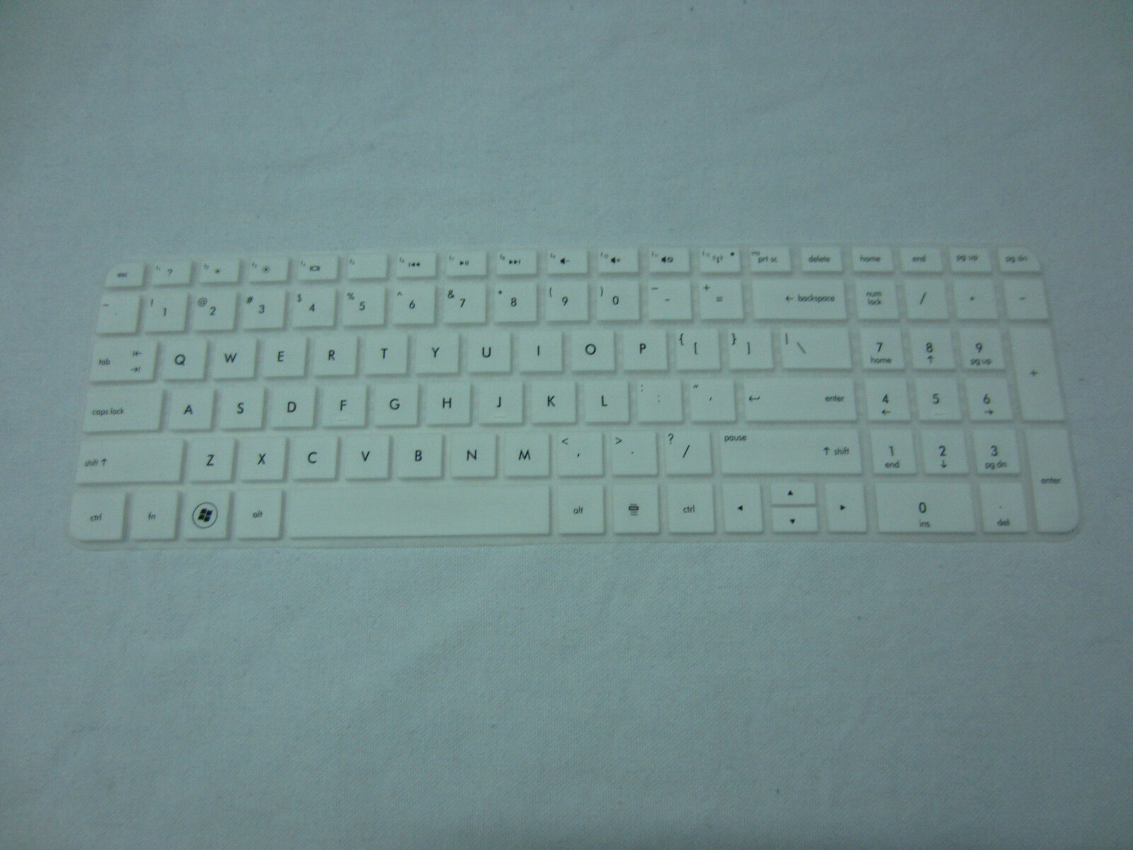keyboard skin protector for HP Pavilion dv6 dv6t G6 G6t G6z with number pad