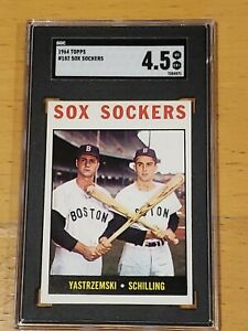 1964 Topps #182 Sox Sockers Yastrzemski SGC 4.5 Newly Graded