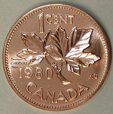 Canada 1984 Proof Gem UNC Small Cent Penny!!