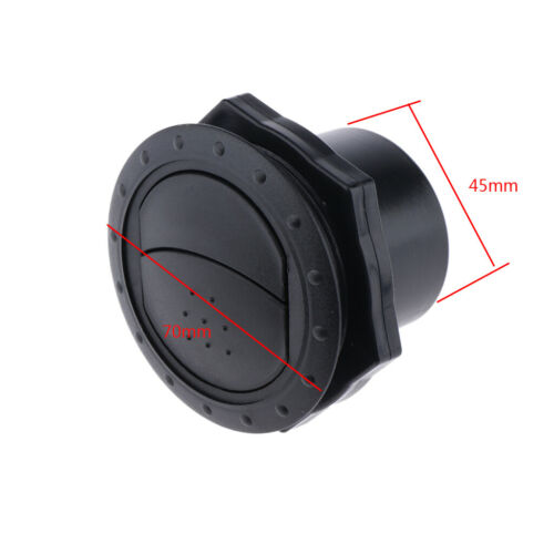 5Pcs Universal Round A//C Heater Air Outlet Vent for Car Yacht 70x45mm Black