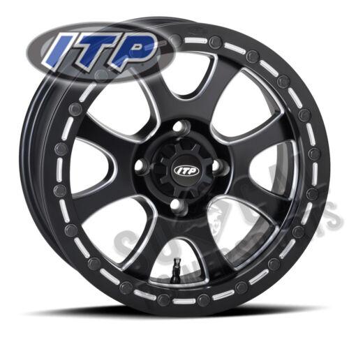 2012-2018 ITP Storm Wheel 15x7 4//156 Tsunami Beadlock Blk 4+3 Polaris RZR 570