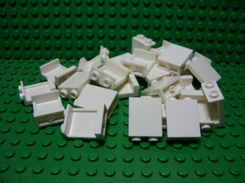 ** 25 CT LOT **  Lego NEW white 1 x 2 x 2 panel pieces   Lot of 25
