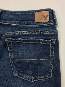American-Eagle-Outfitters-Artist-Crop-Stretch-Denim-Blue-Jeans-Women-039-s-6R