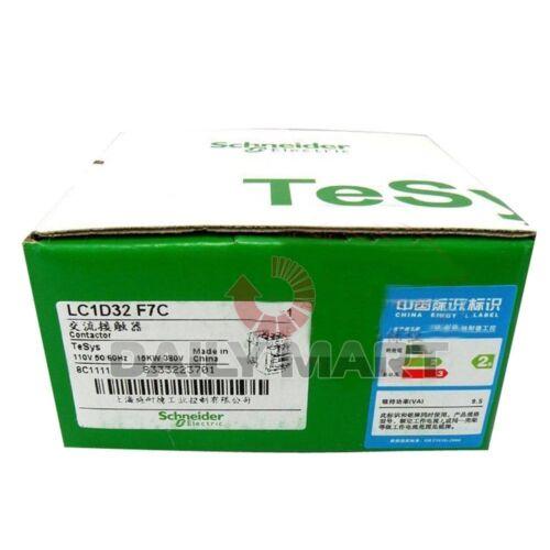 Schneider Telemecanique Contactor LC1D32F7C 110VAC LC1D32-F7C New in Box NIB
