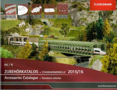 FLEISCHMANN 991530 Zubehörkatalog Standardmodelle 2015//16 H0//N NEU