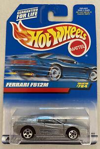 1998 Hotwheels Ferrari F512 M Testarossa Prata E Cinza! Perfeito! Moc!
