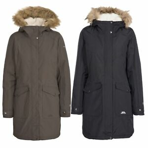Trespass-Womens-Parka-Jacket-Waterproof-Longline-Winter-Warm-Coat