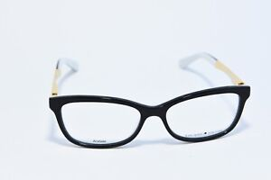 762833bdb7 KATE SPADE ANGELISA S0T ACETATE EYEGLASS FRAMES BLACK WHITE GOLD 51 ...